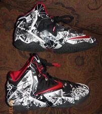 Men's Nike LeBron Xl Graffiti Athletic Shoes Size 9M Polyurethane # 616175-100