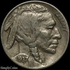1937-D Indian Head Buffalo Nickel ~ VF Very Fine ~ US Coin