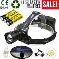990000LMS XHP50 LED Headlamp Zoom USB Rechargeable 18650 Headlight Super Bright