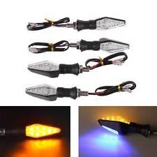 Universal 4x LED Motorcycle Turn Signal Turning Light Indicator Yellow and Blue