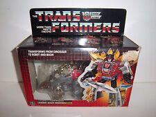 1985 G1 Transformers Dinobot **SNARL** 100% Complete MIB Box & Bubble MINT!!!