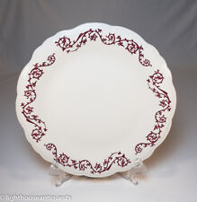 Round Platter Red Thistle Design by Wallace China Los Angeles CA 1940s