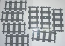 Lego  Lot of 8 Dark Grey STRAIGHT TRACKS  for RC Trains...