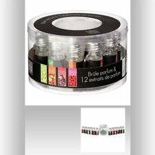 Brûle parfum avec ses 12 extraits de parfum variés de 10ml - 130727Z
