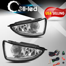 for 2004 2005 Honda Civic Clear Lens Bumper Fog Lights Lamps w/ Bulbs Left+Right