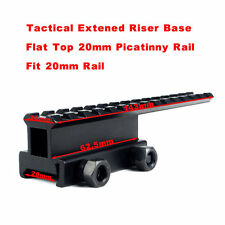 New Extened Riser Base Flat Top 20mm Picatinny Weaver Rail Mount Hunting #a07