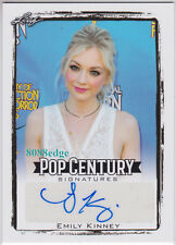 2017 POP CENTURY BASE AUTO: EMILY KINNEY -AUTOGRAPH WALKING DEAD/THE FLASH/ARROW