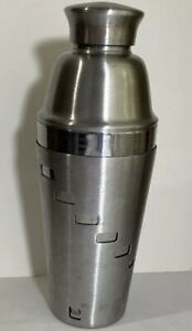 OGGI 34oz Dial A Drink Cocktail Shaker  Stainless Steel w/ 15 Built-in Recipes