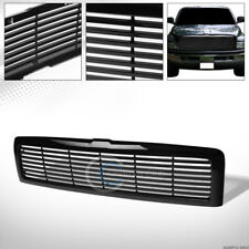 GLOSSY BLK HORIZONTAL FRONT HOOD BUMPER GRILL GRILLE ABS FOR 94-01/02 DODGE RAM