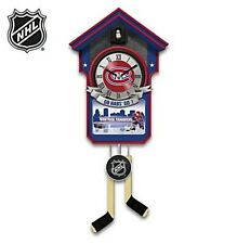 🔴 NHL Montreal Canadiens Wall Cuckoo Clock by the Bradford Exchange