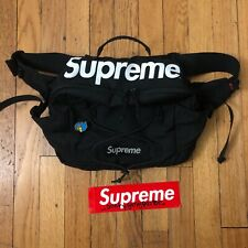 Supreme SS17 Waist Bag. Black. Free Gonz Pin. Great Condition