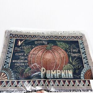 Country Peddlers Pumpkin Patch Tapestry Placemats Set of 3 NEW