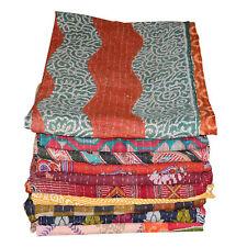Vintage Kantha Quilt Wholesale Lot Ralli Gudri Reversible Blanket Throw