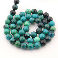 Natural Blue Chrysocolla Gemstone Spacer Loose Beads Jewelry Finding 4/6/8/10mm