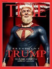 "Donald Super Trump Make America Great Time Magazine 2""x3"" Flexible Fridge Magnet"