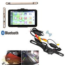 """7"""" Zoll PKW Auto EU 3D Karten Navigationsgerät AV IN+Wireless Rückfahrkamera 8GB"""