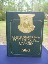 USS FORRESTAL CV-59 Mediterranean Deployment Cruise 1986 Year Log Book NAVY