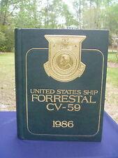 USS FORRESTAL CV-59 Mediterranean Deployment Cruise 1986 Year Log Book NAVY