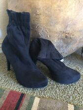 CHINESE LAUNDRY Women's Black Vegan Suede Booties Stiletto High Heels Size 10