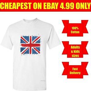 Union Jack T-shirt UK Flag England Britain Gift Top Kids & Adults Tee Top