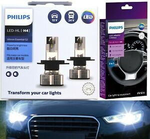 Philips Ultinon LED G2 Canceller H4 Two Bulbs Head Light High Low Beam Lamp