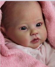 Newborn Doll Kit Reborn Dolls Kits Supplies soft vinyl Head + 3/4 Limbs 20'' HOT
