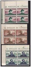 ITALIA 1951 - VERDI SERIE  QUARTINA NUOVA ** ADF