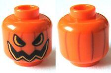 Lego - Minifig, Head Pumpkin Jack O' Lantern - Semicircular Eyes - Orange