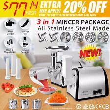 Stainless Steel Electric Meat Mincer Tomato Sauce Slicer Shredder Sausage Maker