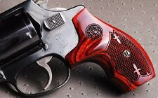 Factory Smith and Wesson J-Frame Super Rosewood Checkered Fleur-de-Lis