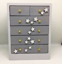 1:12th dolls house modern Children's Nursery hand painted Grey chest of drawers