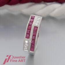 SCHNÄPPCHEN: RING mit 12 Rubinen(Rubin) und 6 Brillanten(Diamant) - 900 Platin