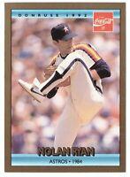 1992 Donruss Coca-Cola Nolan Ryan Baseball #18 Nolan Ryan Houston Astros