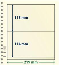 Lindner T-Blanko-hojas con dos Bolsas de 10er Paquete Arte Núm. 802 208