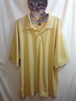 Men's Van Heusen Micro Pima Polo Golf Shirt Sz 2XL Mustard Yellow Short Sleeve