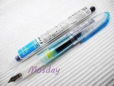 (2 Pens + 6 Cartridges) Pilot Petit1 SNP-20F Mini Fine Nib Fountain Pen,LIGHT BL