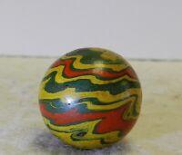 #10950m Vintage German Gutta Percha Paper Mache Marble .72 Inches