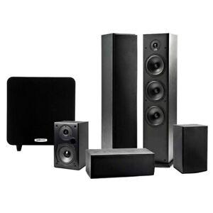 Polk Audio TSeries 5.1ch Home Theatre Tower/Center/Rear Speaker/Subwoofer BLK