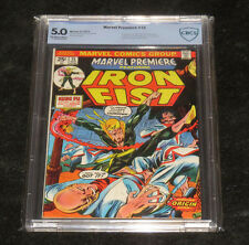 1974 MARVEL PREMIERE 15 THE 1ST IRON FIST APPEARNCE DANNY RAND GRADED 5.0 CBCS 1