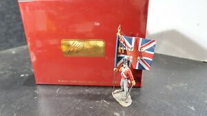 Britains BOXED Napoleonic No 36111 British 44th Foot Ensign w King Colours Flag