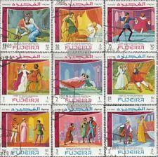 Fujeira 311A-319A (kompl.Ausg.) gestempelt 1969 Szenen aus Shakespeares Werken