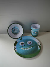 3-Teilig Monster Melamin Frühstücksset Teller,Becher,Schüssel - NEU - Motiv 4