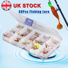 30PCS Metal Spinners / Lures - Sea Trout Pike Perch Salmon Bass Fishing Tackle
