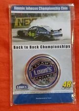 Sealed Jimmie Johnson Championship Coin Back to Back Championship 2006 2007