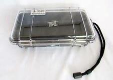 Pelican Micro Case Series #1060,  Clear with Black Rubber Padding - USED