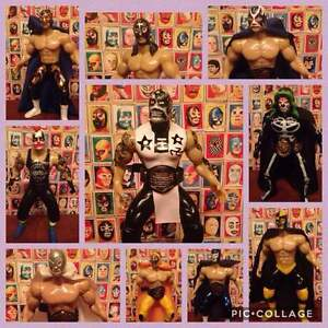 MEXICAN LUCHA LIBRE, WRESTLING ACTION FIGURES 7 inches
