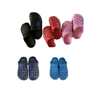 New youth boys girls blue red black pink color pvc clogs slippers-size 13-5