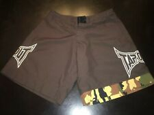 Tap Out Pro Mma Mens Shorts Brown Camo Embroidered Tapout Fight Size 32