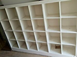 Vintage Pigeon Hole Cabinet 24 Boxes Large Display Wall
