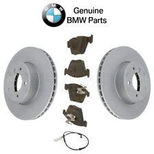 For BMW E60 E61 Pair Set of 2 Front Vented Disc Rotors w/ Pads & Sensor Genuine